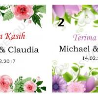 Kartu Ucapan Terima Kasih untuk Souvenir Pernikahan KUT38x38