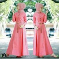 BAJU GAMIS KATUN RAYON WARNA SALEM setelan 3IN1-fashion-wanita-muslim