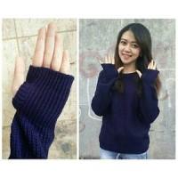 harga round hand sweater navy Tokopedia.com