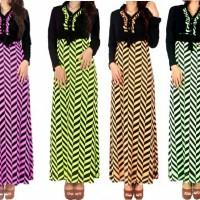 baju maxi / gamis wanita untuk busui / hamil evvi