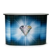 Pop Up Table / Booth / Meja / Event Desk - Include Print