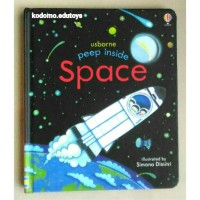 Usborne peep inside - Space,Buku Import Anak