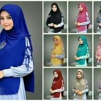 Jilbab Syria Talisya Premium / hijab khimar polos simpel instan
