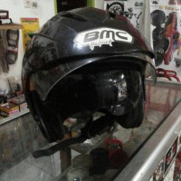 Helm Half-Face BMC Fuji R Double Visor Warna Hitam