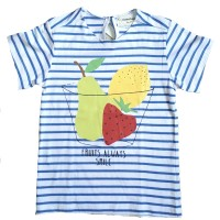 kaos fruity stripe blue birds and bees