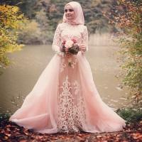 Jual Baju Pengantin Muslim Model Modern Terbaru Sederhana Elegan