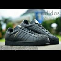 Jual Sepatu Sekolah Adidas Superstar All Full Black Hitam Cewek Cowok Murah