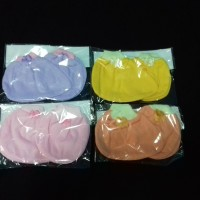 Sarung tangan kaki bayi newborn murah warna polos model pita