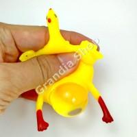 Squishy Ayam Bertelur / Chicken Splat Toy / Anti Stress