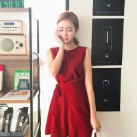 Jual SALE/DISKON IMPORT Dress M034/Mini/Simple/Merah/Casual/Korea/Korean Murah