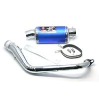 KNALPOT I-ONE TRIOVAL BLUE-CROM MIO 125 M3