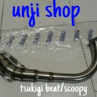 harga leher knalpot tsukigi beat/scoopy Tokopedia.com