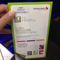 Jual Hikaru Antigores Glare Anti Minyak Iphone 5 / 5s / ES Fullset D