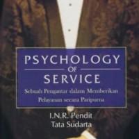 Psychology Of Service - I.n.r. Pendit