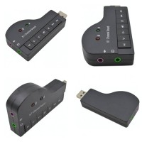 Converter 3.5mm Port Audio Jack to USB Laptop PC Acc Mic Microphone