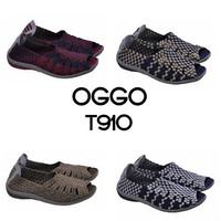 Sepatu flat rajut anyaman anyam OGGO T910