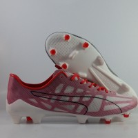 Sepatu Bola Puma Evospeed SL White Red FG Replika Impor