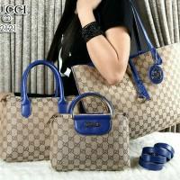 New Gucci Bolbal Canvas Vs Smooth Leather 3in1 (2121) Semiori
