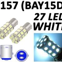 LAMPU LED MOTOR / MOBIL 1157 BAYONET 2 KAKI 27 MATA REM DLL