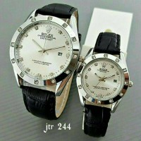 Promo best seller!! jam tangan rolex couple/ jtr 244 hitam