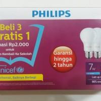 Jual Lampu Led PHILIPS PHILIP unicef putih 7w 7 w 7 watt beli 3 gratis 1 Murah