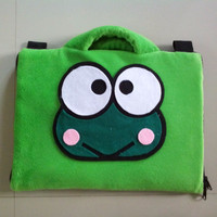 softcase/tas laptop,netbook,notebook lucu Keropi Green