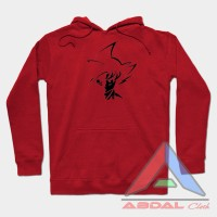 Sweater - Hoodie Tribal Goku -Red -Front Logo