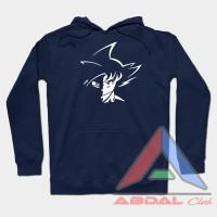 Sweater - Hoodie Tribal Goku -Navy Front Logo