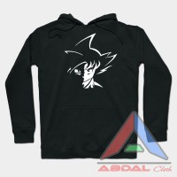 Sweater - Hoodie Tribal Goku -Black -Front Logo
