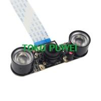 Raspberry Pi 3 B Wide Angle Fisheye Lens Camera + IR Sensor LED AT20