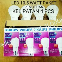 LAMPU LED PHILIPS 10.5 WATT 10,5 WATT 10.5WATT 10,5WATT PAKET 4 PCS