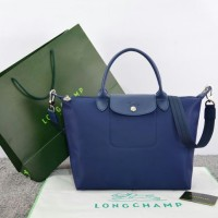 Tas Longchamp Le Pliage Neo Medium BIRU DONGKER Ori Leather M663
