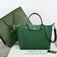 Tas Longchamp Le Pliage Neo Medium HIJAU Ori Leather M663