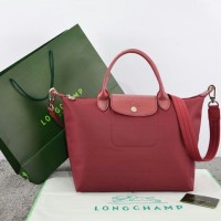 Tas Longchamp Le Pliage Neo Medium MERAH Ori Leather M663