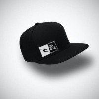 Topi Snapback - Ripcurl / warna Hitam
