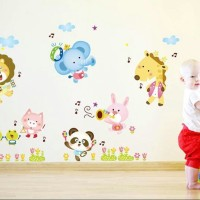 Jual WALL STICKER STIKER TRANSPARAN 60X90 WALLSTICKER ABC1015 ANIMAL MELODY Murah