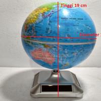 harga Globe Bola Dunia Biru Display Datar Solar Power Tenaga Surya Matahari Tokopedia.com