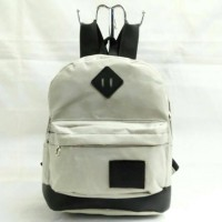harga backpack / ransel mini model jansport abu hitam ada tempat notebook Tokopedia.com