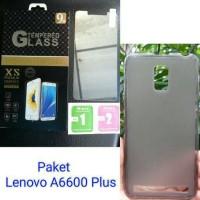 PAKET HEMAT Lenovo A6600 Plus - Tempered Glass + Softcase TPU A3860