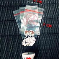 (ZIP-PLS/CM-017/CM-018) Kantong Plastik Klip Bening, 8*5 CM @1000 pcs