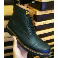 sepatu boot safety , sepatu boot kulit , sepatu boot trendy pria