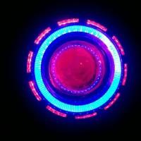 Lampu Motor LED Projie Double Sinar Double AE + DE bukan HID Projektor