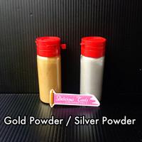 Gold / Silver Powder lustre dust pewarna emas perak fondant icing new