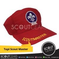Topi Scout Master Merah / Pandu / Wosm / Lely / Pramuka