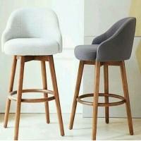 harga Kursi cafe bar minimalis kayu jati retro scandinavian stool Tokopedia.com
