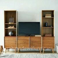 Meja tv minimalis jati , rak tv , lemari tv, bufet laci kayu retro