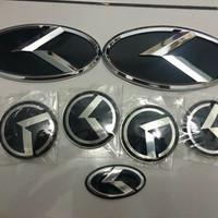 Emblem logo Kia terbaru / K racing 3D Kia Rio full set