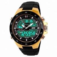 Jam Tangan Pria ORIGINAL SKMEI Dual Time Zone Digital 5 ATM Waterproof