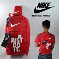 Tas Selempang Nike Sepatu Slingbag Pria Nike Sling Jdi Red White