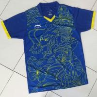 Jual Jersey Badminton Li-Ning Naga Biru Kuning Murah